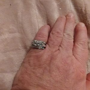 Jewelry - Three engagement &/or wedding silver rings. Sz 7